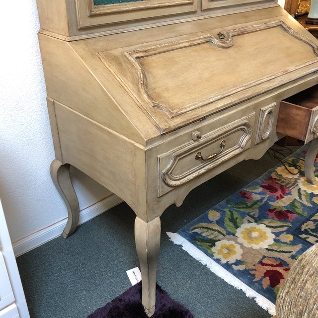 Minton Spidell Louis XV Hand Painted Secretary Desk - Image 6 of 11