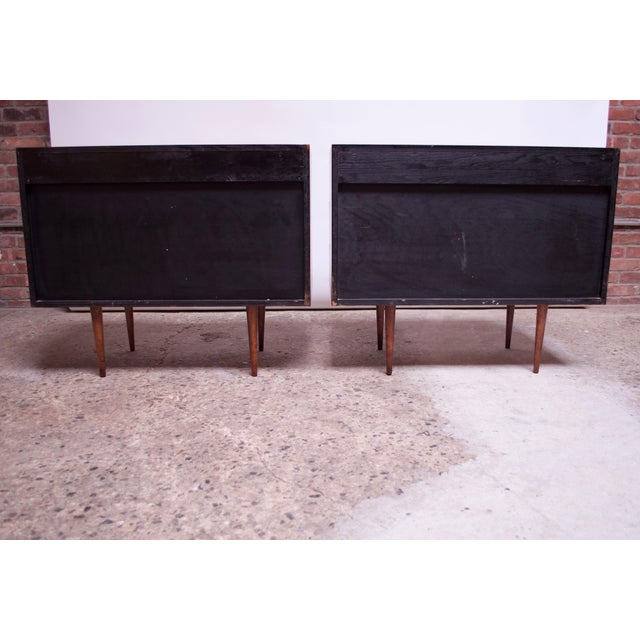 Pair of Mel Smilow Three-Drawer Walnut Chests For Sale - Image 9 of 13