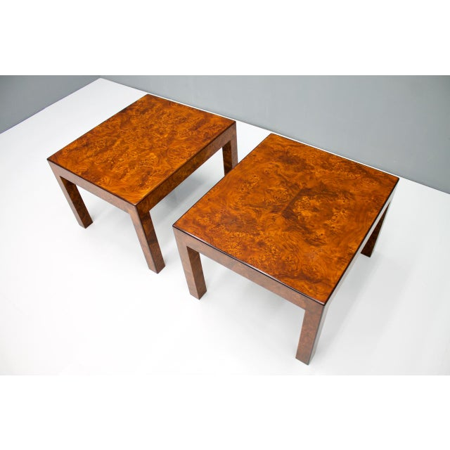 Pair of Burl Wood Side or End Tables 1970s For Sale - Image 9 of 10