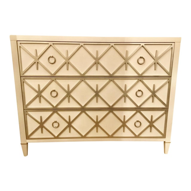 White Caracole Lattice Greet You Chest For Sale - Image 8 of 9