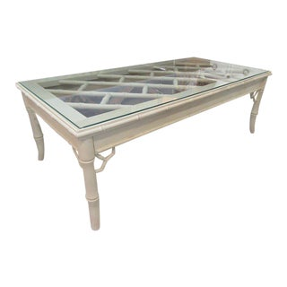 Faux Bamboo Chippendale Coffee Table For Sale