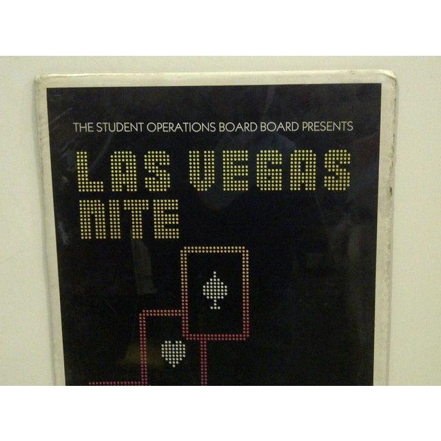 Americana Circa 1980 Las Vegas Nite Marquette Center Concert Poster For Sale - Image 3 of 4