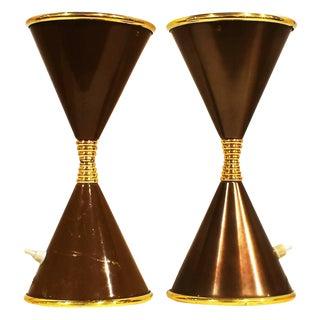 """1960´s Small Lamp """"Clessidra"""" in the style of Angelo Lelli, brass, glass - Italy For Sale"""