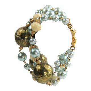 80s 90s Kjl Kenneth Jay Lane Boho Chic Bracelet For Sale