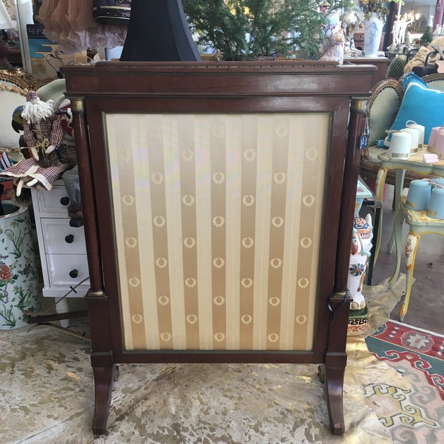 Antique French Empire Mahogany Fire Screen For Sale - Image 10 of 10