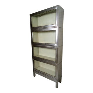 Industrial Metal Four Stack Barrister For Sale