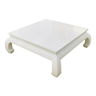 Ming Lacquered Coffee Table For Sale