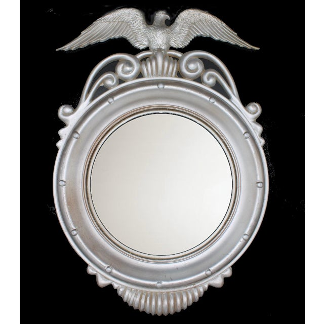 Mid-20th Century Vintage Federal Eagle Convex Wall Mirror For Sale - Image 6 of 6