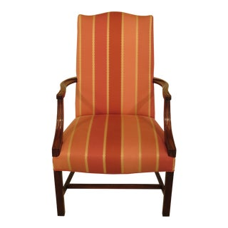 Hickory Chair Co. Mahogany Open Arm Lolling Chair For Sale