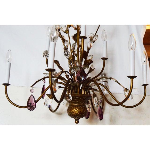 Vintage Italian Chandelier For Sale - Image 5 of 5