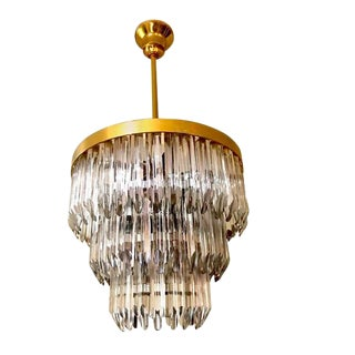 Murano Chandelier Crystal Prism /Flush Mount by Camer