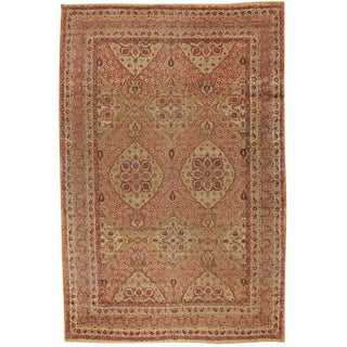 Antique 19th Century Oversize Persian Lavar Carpet For Sale