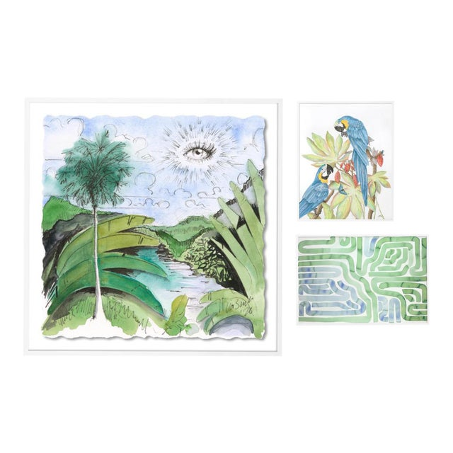 Lanai Gallery Wall, Set of 3 For Sale