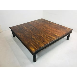 Oversized Rustic Rosewood Coffee Table Preview