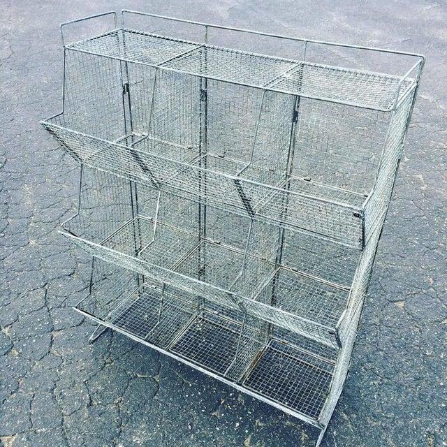 Industrial Style Wire Mesh Storage Bin | Chairish