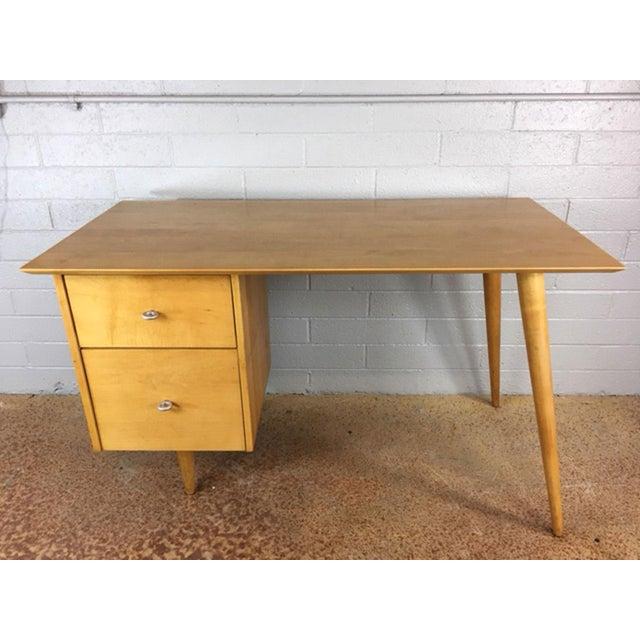 Paul McCobb Planner series desk in birch. Circa 1950's. Timeless.