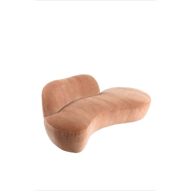"Vladimir Kagan Vladimir Kagan ""Zoe Sofa"" in Mohair Upholstery For Sale - Image 4 of 7"