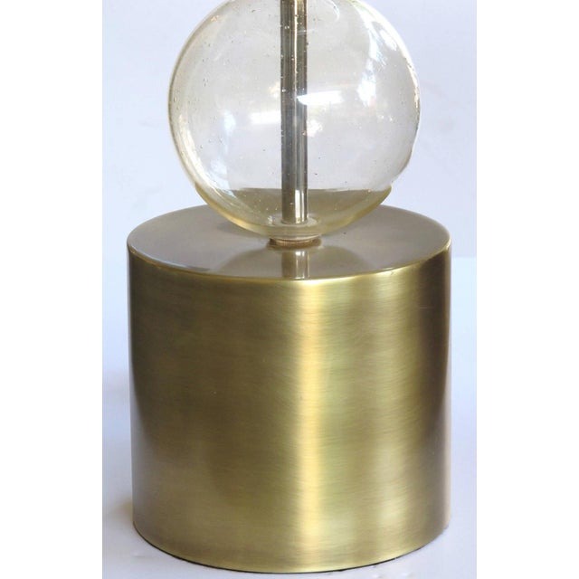 Mid-Century Modern Murano Mid Century Lamp of Stacked Gold Orbs For Sale - Image 3 of 4