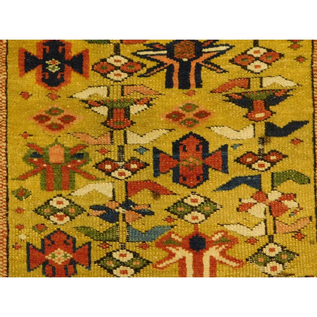 1900 - 1909 1900s Antique Caucasian Shirvan Runner For Sale - Image 5 of 13