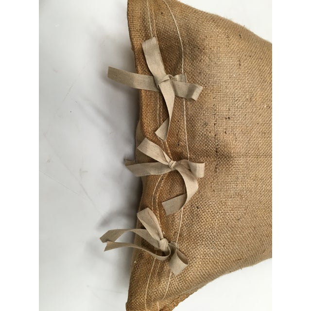 Custom European Grain Sack Pillows - A Pair For Sale - Image 4 of 7
