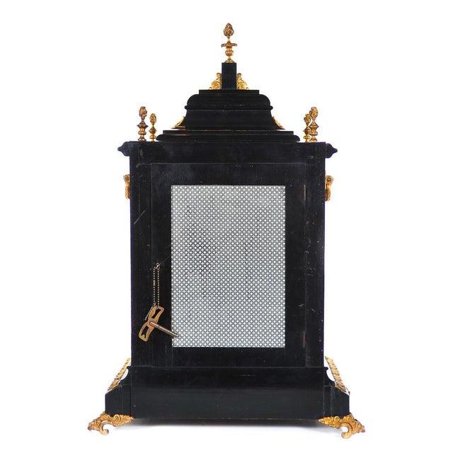 Mid 19th Century 19th C. Reid & Sons Triple Fusee Ebony & Gilt Mantel Clock For Sale - Image 5 of 8