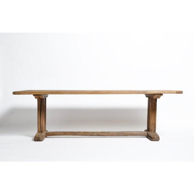 19th Century Swiss Oak Wood Farm Table For Sale - Image 13 of 13