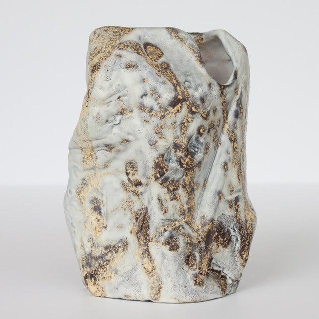 Marcello Fantoni Brutalist Ceramic Vase - Image 4 of 10