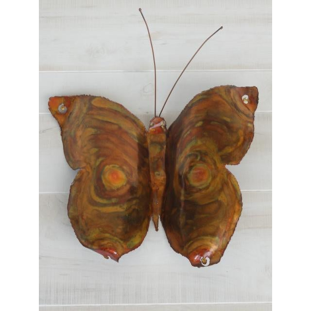 This 3-D copper butterfly was beautifully handmade and has an array of color by the artist distressing the metal giving...