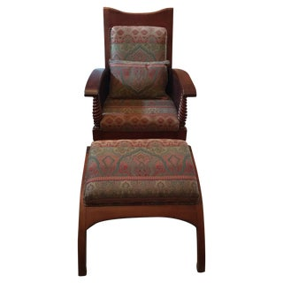 Harris Marcus Caned Chair and Ottoman - Set of 2