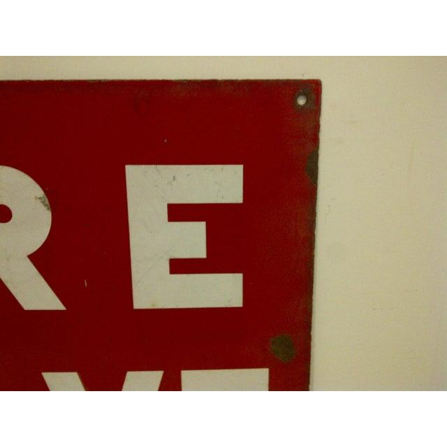 """Vintage Porcelain Sign """"Fire Valve"""" For Sale - Image 4 of 6"""