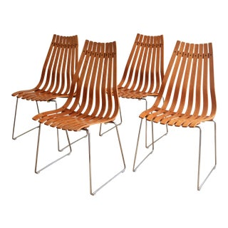 "Vintage Hans Brattrud for Hove Mobler ""Scandia"" Chairs- Set of 4 For Sale"