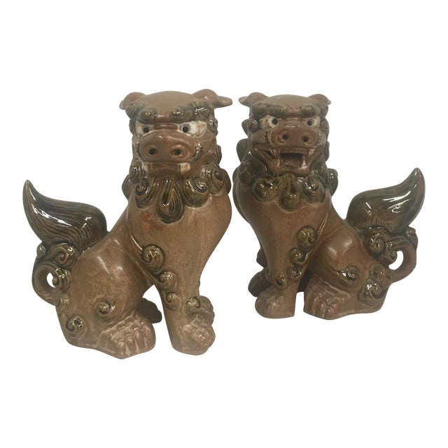 Small Foo Dogs - Pair - Image 1 of 6