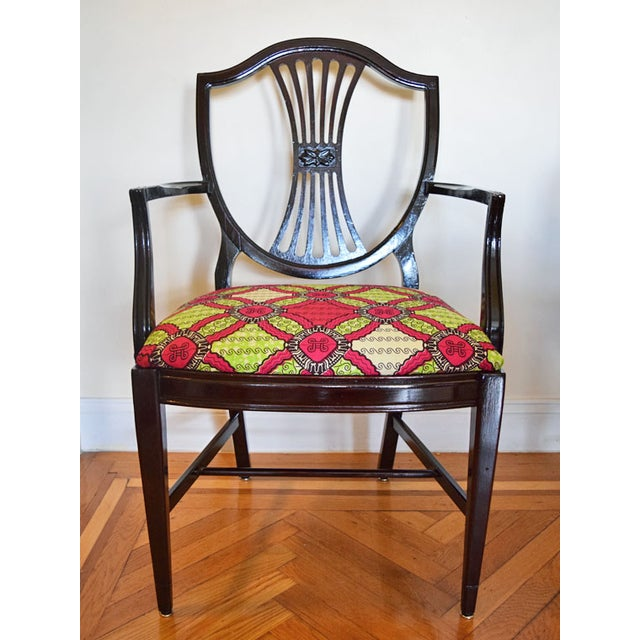 Antique-Style Shield Back Armchair - Image 2 of 7