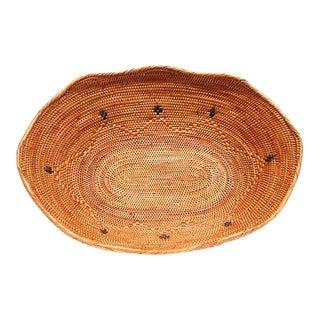 Oval Bread or Fruit Basket Basket Handmade For Sale