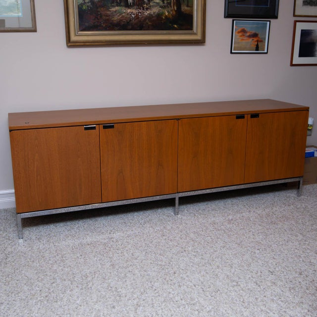Silver Florence Knoll Walnut Credenza For Sale - Image 8 of 8