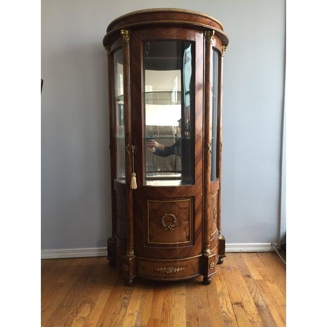 Burlwood Mirrored Curio Cabinet - Image 2 of 8