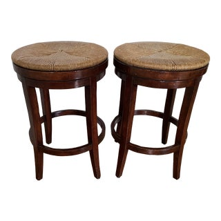 Guy Chaddock Swivel Bar Stools - a Pair For Sale