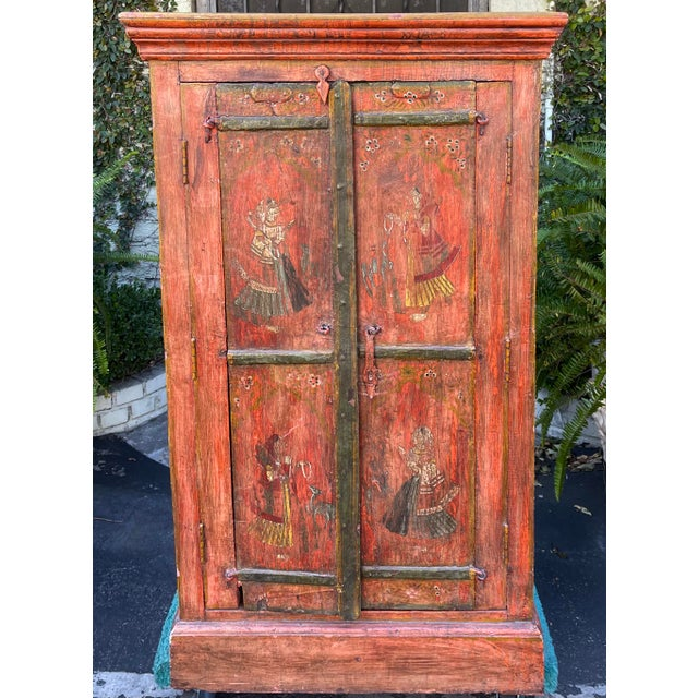 Red Equator Furniture Company 18th C Spanish Colonial Cabinet Mini Armoire For Sale - Image 8 of 8