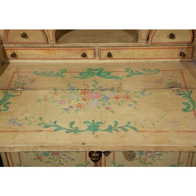 Venetian-Style Painted Secretary For Sale - Image 7 of 9