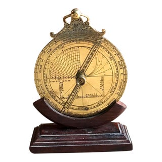 Antique Astrolabe & Stand, Historic Celestial Navigation Tool
