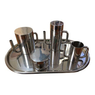 Sleek Italian Coffee Tea Service - 5 Pc. Set