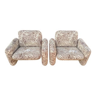 """Herman Miller """"Chiclet"""" Lounge Chairs, a Pair For Sale"""