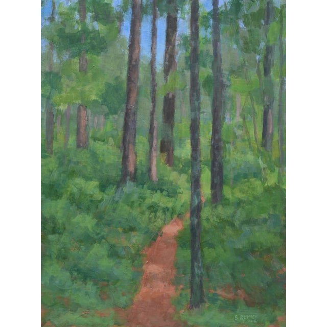 """""""Back Yard Path"""", Contemporary Painting by Stephen Remick For Sale"""