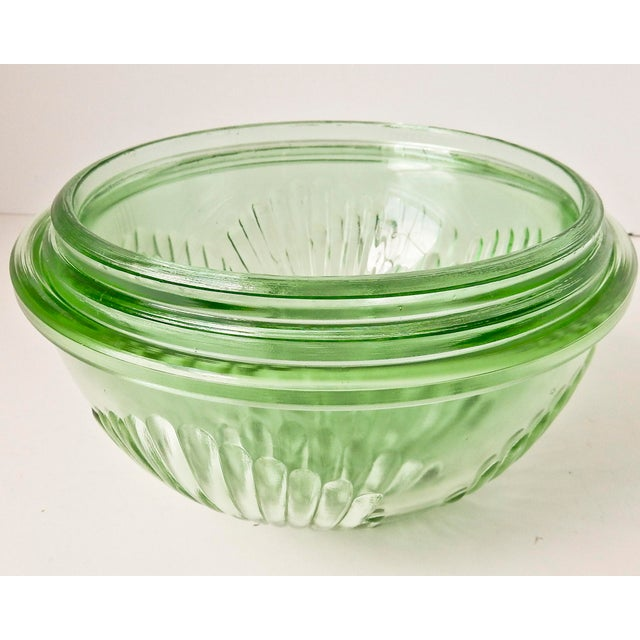 Depression Glass Mixing Bowls - Set of 3 For Sale In Chicago - Image 6 of 7