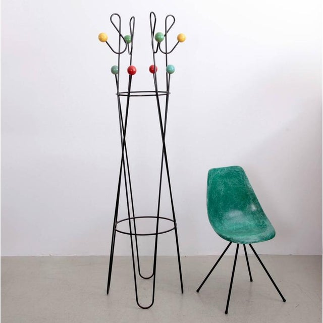 1950s Multicolored Coat Rack Stand by Roger Feraud For Sale - Image 5 of 5