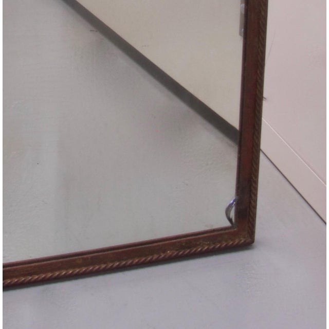 1940s Wrought Iron Mirrored Top Coffee Table For Sale - Image 5 of 8