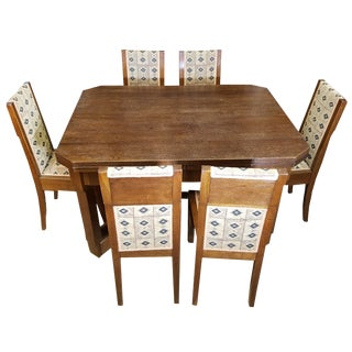 20th Century Arts and Crafts Josef Gočár Dining Suite - 7 Pieces For Sale