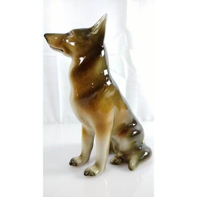 Royal Dux Bohemia Czech German Shepherd Figurine. Beautiful condition. No chips or cracks.