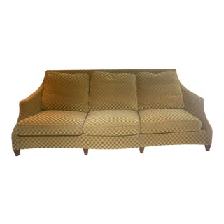 Mohair Gold Donghia Transitional Sofa For Sale