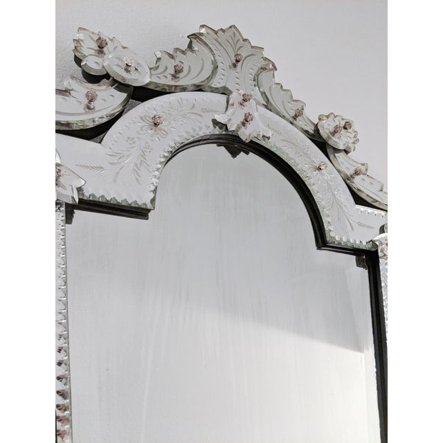 Early 20th Century Vintage Etched Venetian Mirror For Sale - Image 4 of 13